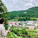旅館をドローンで空撮する小山